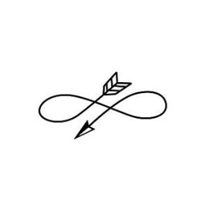 300x300 Curved Arrow Tattoos Curved Arrow, Arrow And Curves