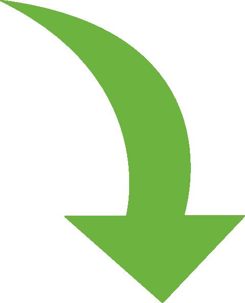 480x593 Curved Arrow Bright Green Clip Art