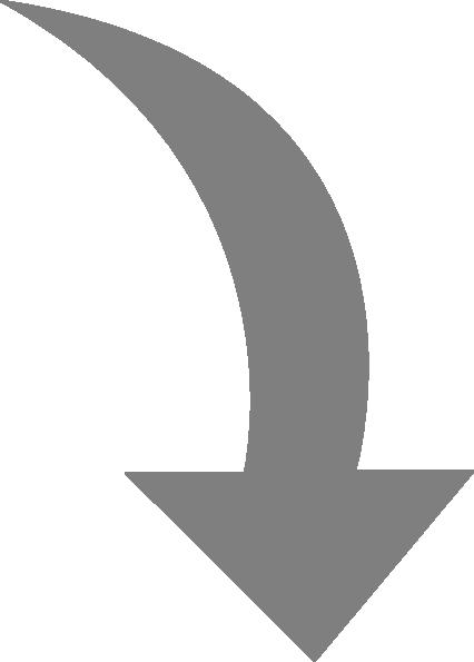 426x595 Curved Arrow Right Gray Clip Art