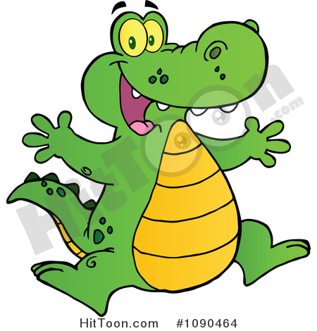 450x470 Cute Alligator Clipart