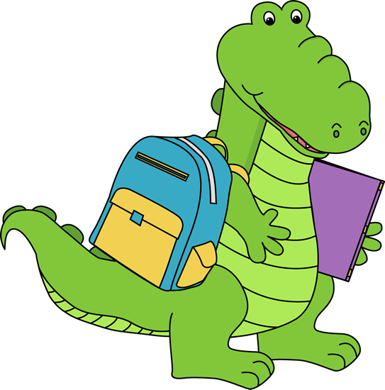 543x550 Cute Alligator Head Clipart