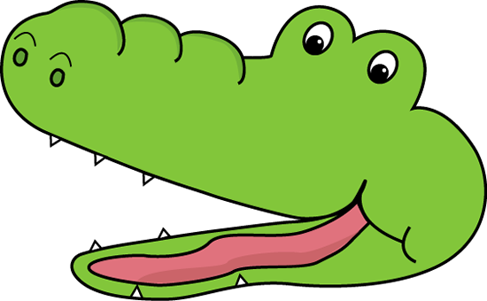 550x340 Cute Alligator Clip Art