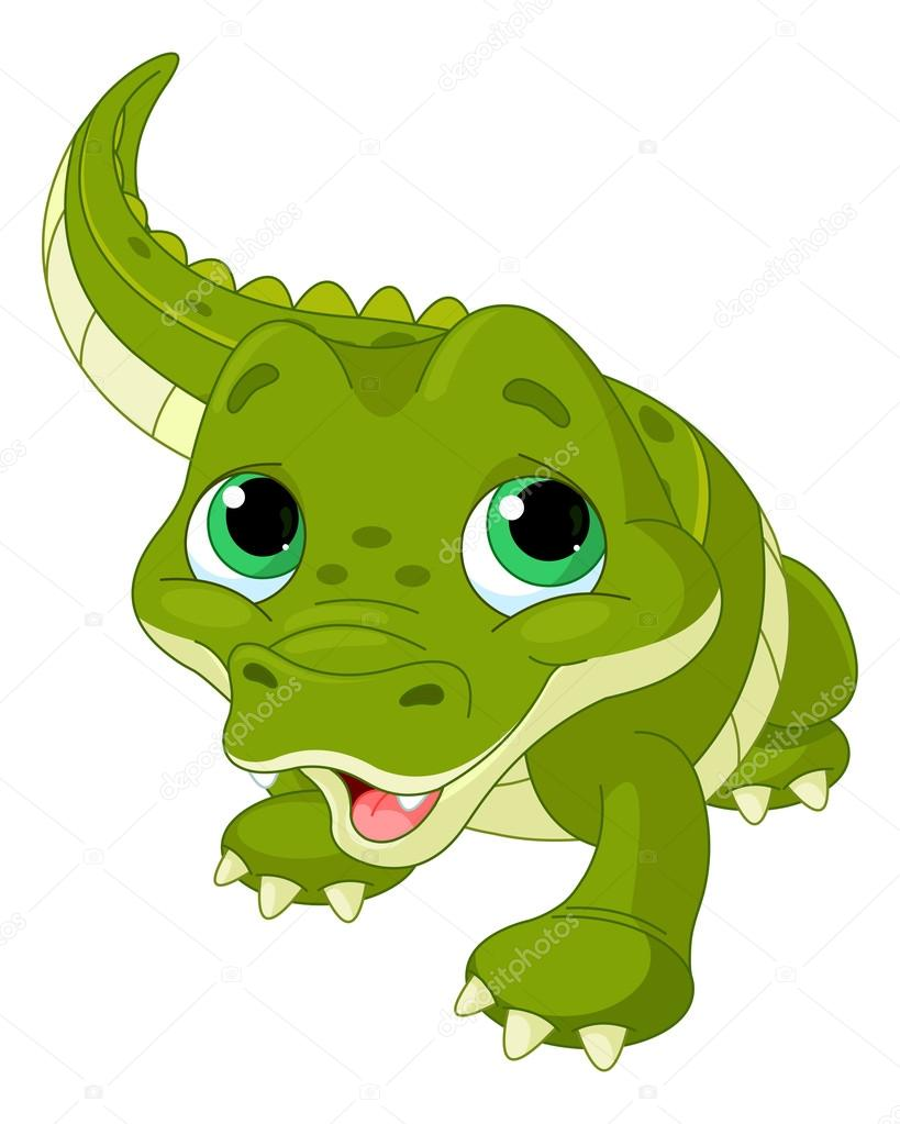 819x1023 Cute Baby Alligator Stock Vector Dazdraperma