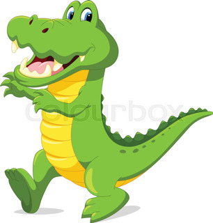 306x320 Cute Baby Crocodile Cartoon Stock Vector Colourbox