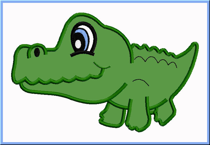 735x506 Drawn Alligator Cute
