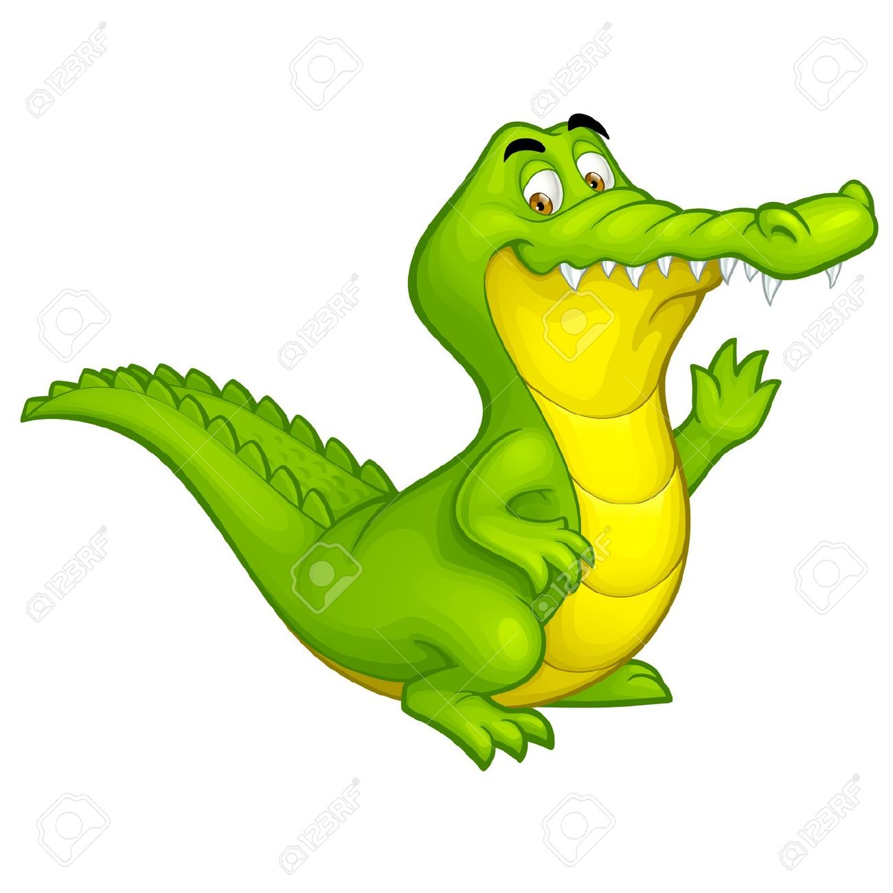 1300x1300 Cute Crocodile Illustration