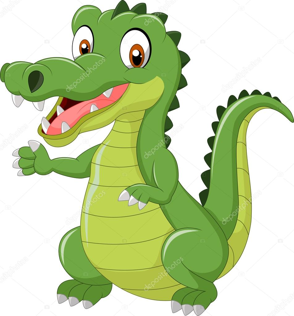 952x1024 Cartoon Cute Crocodile Stock Vector Tigatelu