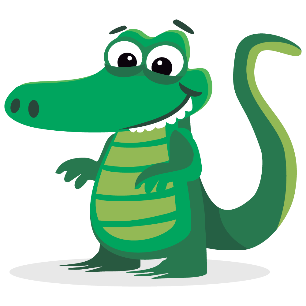 Cute Alligator Clipart | Free download on ClipArtMag