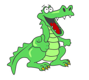 300x271 Cute Alligator Clipart Free Clipart Images The Cliparts