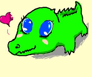 300x250 Cute Alligator