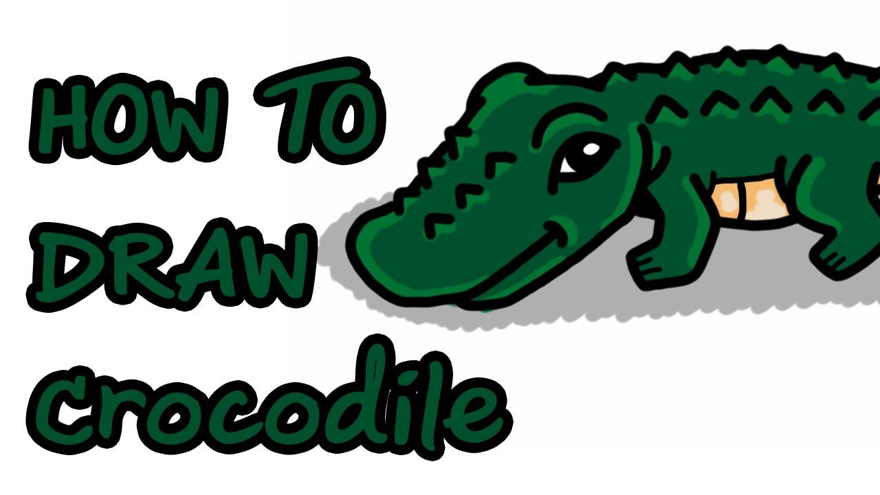 1280x720 How To Draw Crocodile