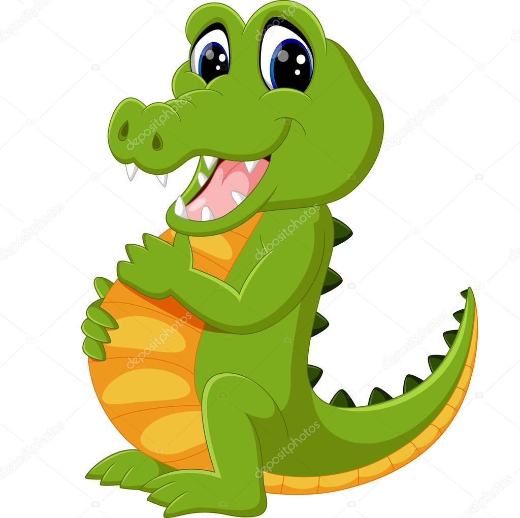 1024x1020 Cute Crocodile Cartoon Stock Vector