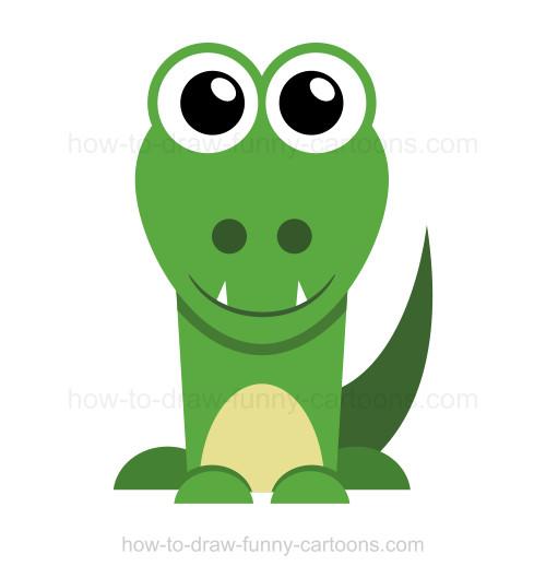 500x529 To Draw An Alligator
