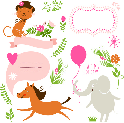 483x477 Cute Animal Clip Art Free Vector Download (214,044 Free Vector