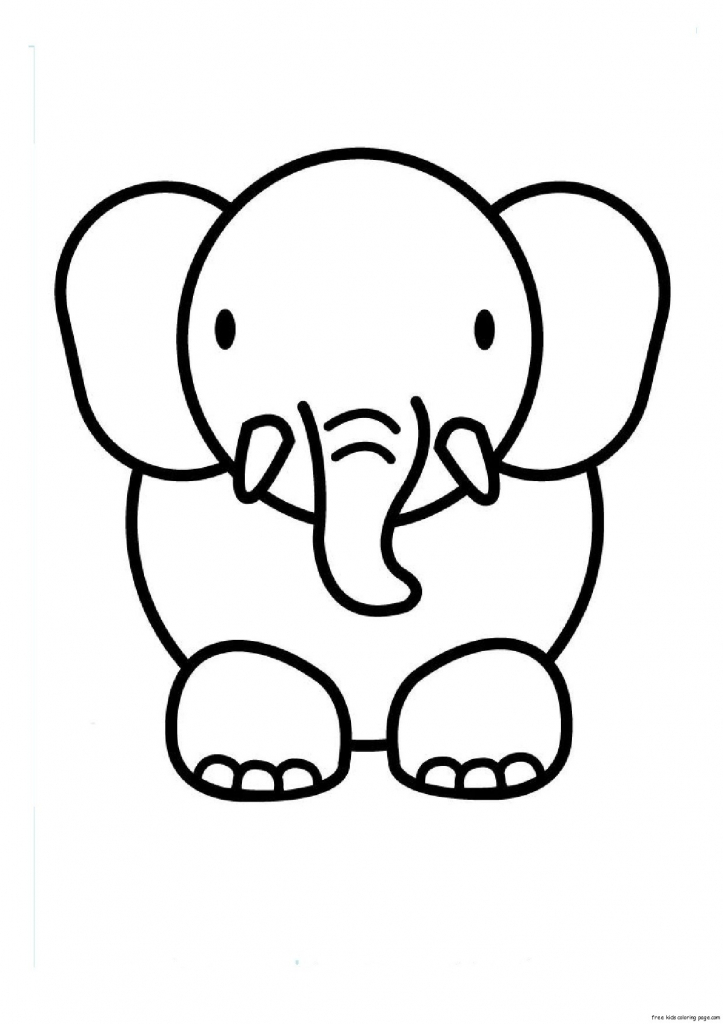 723x1024 Cute Animal Drawings For Kids Print Out Animal Elephant Coloring