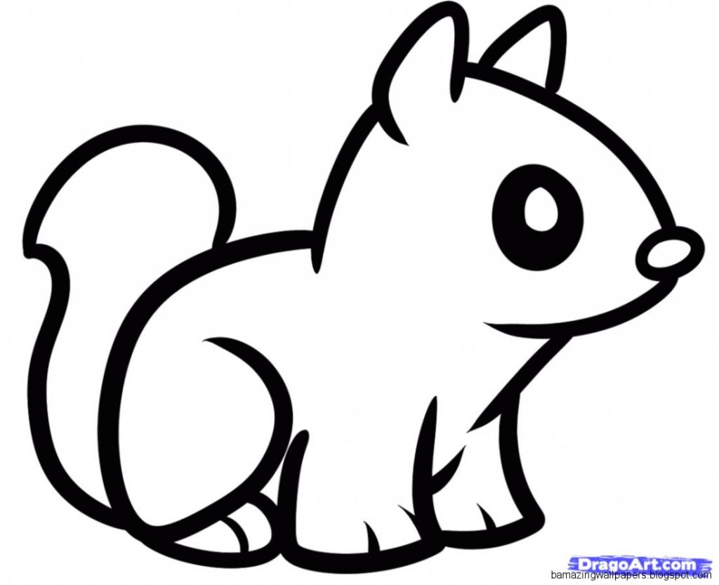 1024x833 Easy Animal Drawings Cute Animal Drawings Simple Cute Tiger