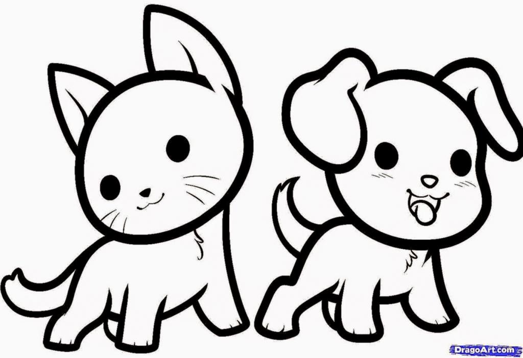 1024x702 Simple Cute Drawings Easy Cute Animal Drawings Wallpapers