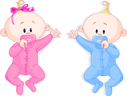 500x376 Cartoon Cute Baby Vector Illustration 01