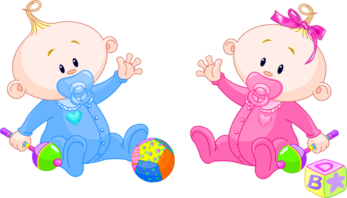 500x286 Cartoon Cute Baby Vector Illustration 06