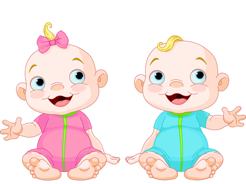 500x375 Cartoon Cute Baby Vector Illustration 09