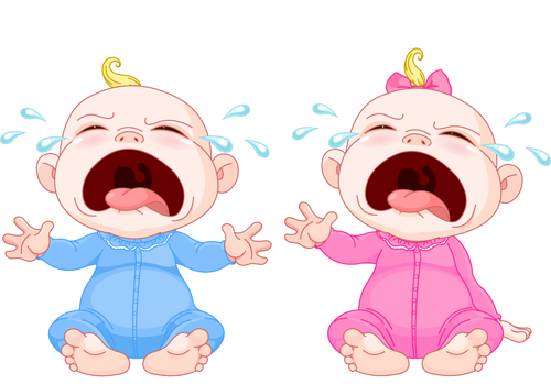 500x349 Cartoon Cute Baby Vector Illustration 10