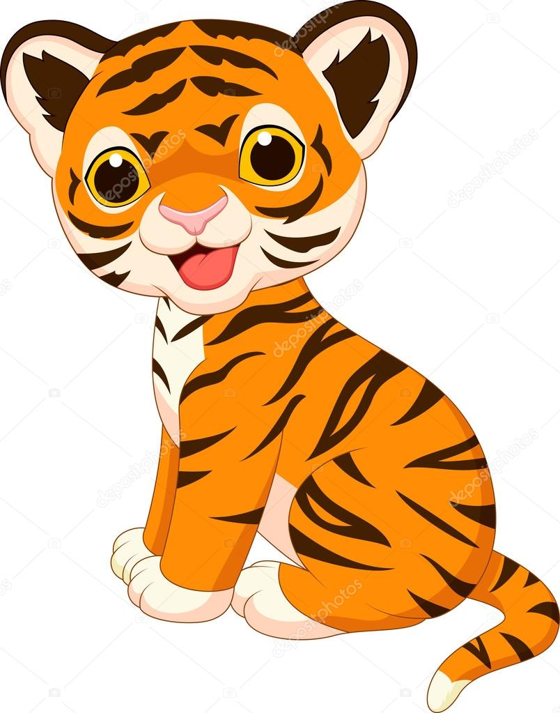 804x1023 Cute Baby Tiger Cartoon Stock Vector Tigatelu
