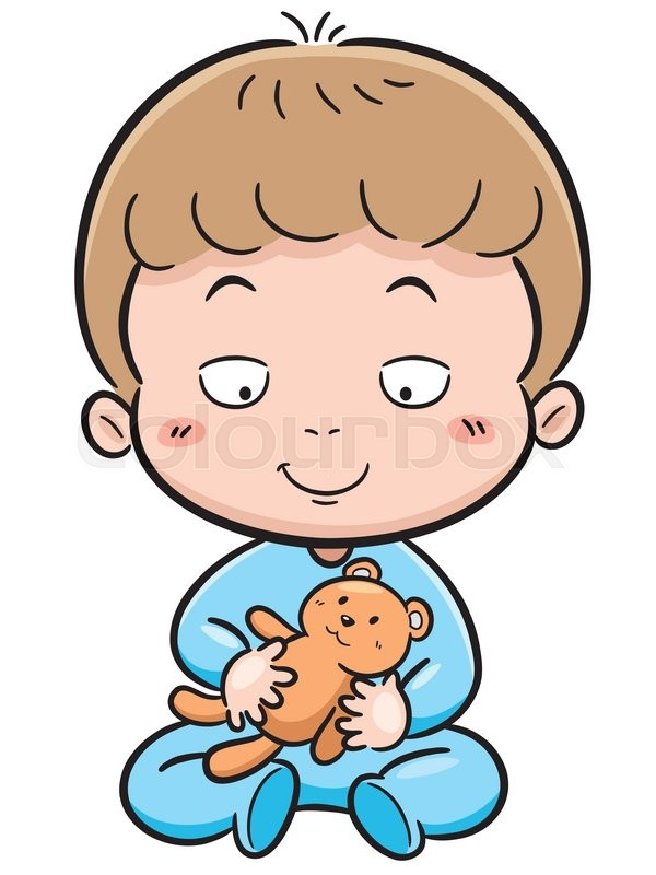 600x800 Vector Illustration Of Cute Baby Cartoon Stock Vector Colourbox
