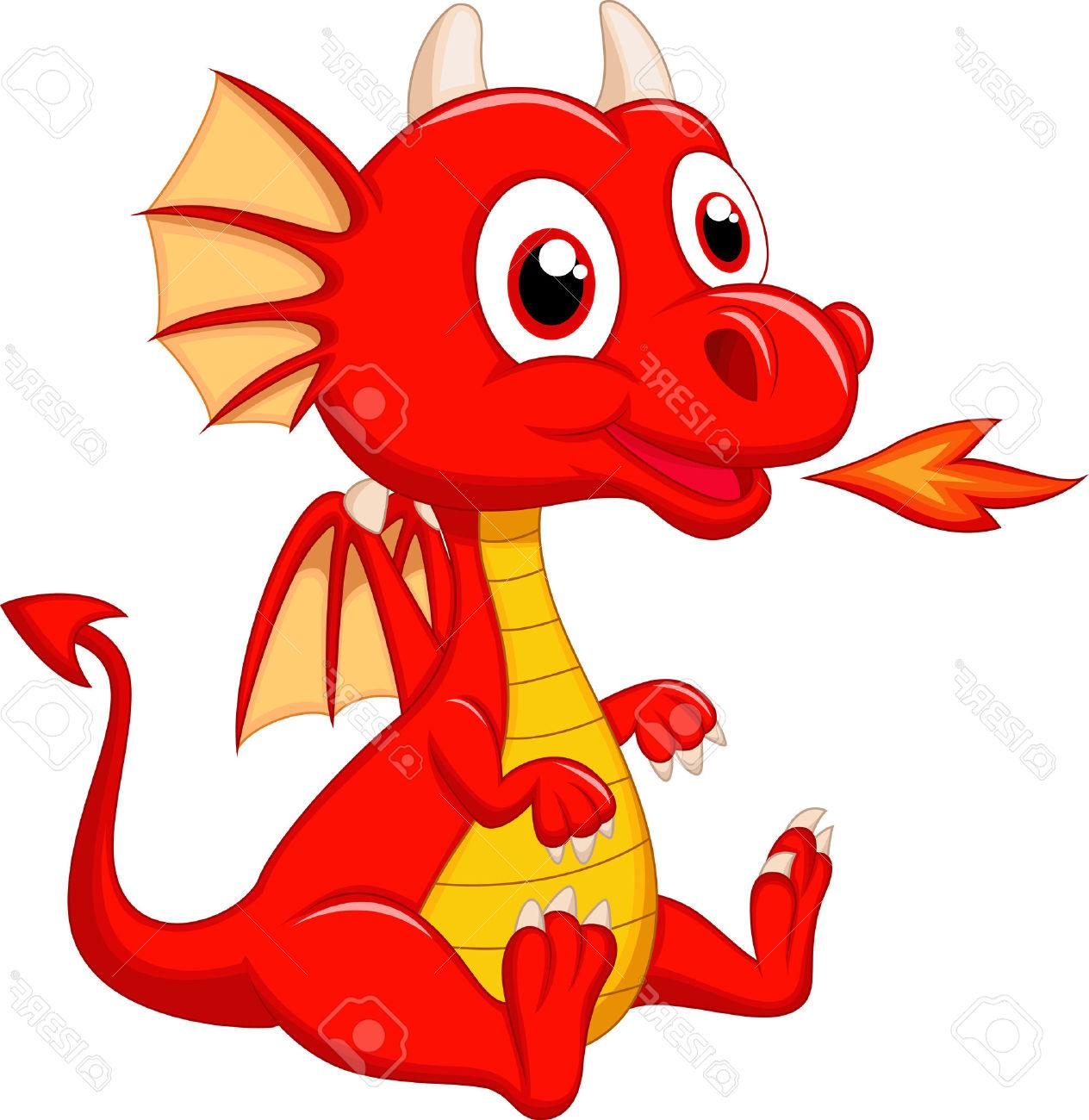 1264x1300 Best Hd Cute Baby Dragon Cartoon Stock Vector Library