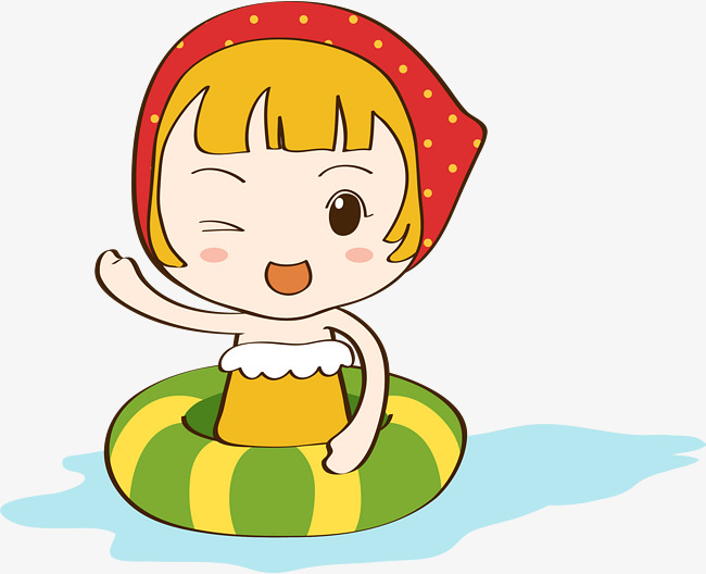 650x528 Cartoon Cute Baby Swimming Pool, Hand Painted, Cute Cartoon