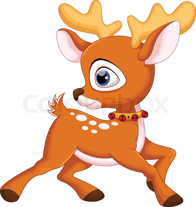 756x800 Cute Baby Deer Cartoon Stock Vector Colourbox