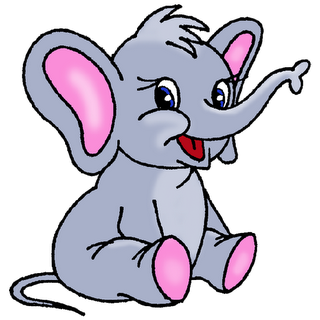 320x320 Cute Cartoon Elephants Baby Elephant Page 1 Clip Art
