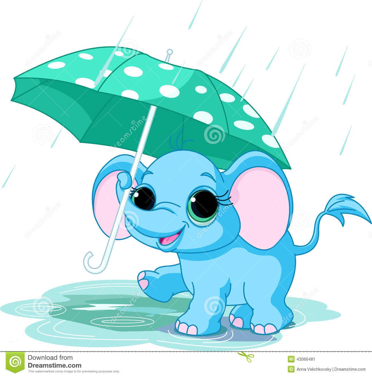 1300x1319 Umbrella Clipart Baby Elephant