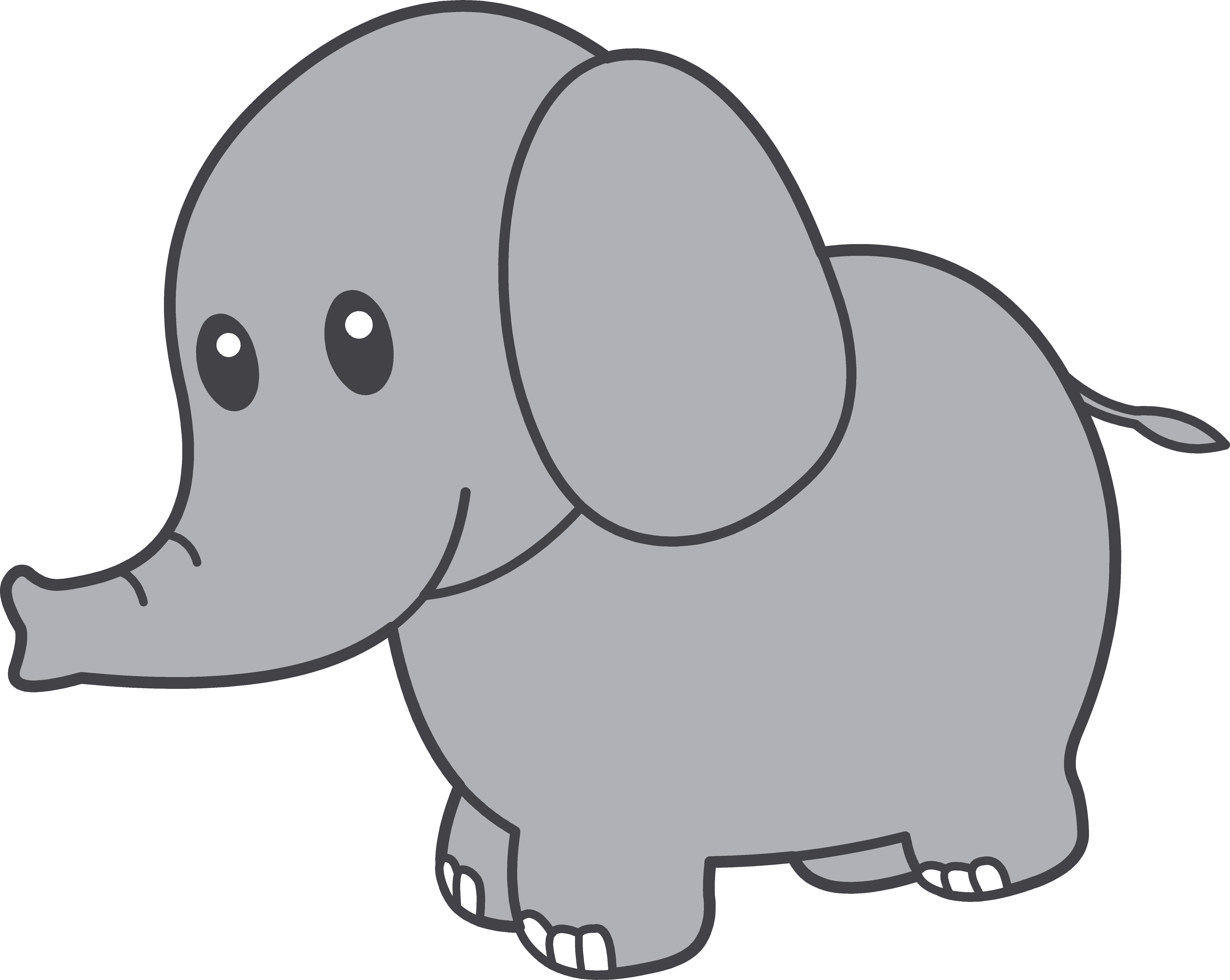 6062x4830 Baby Elephant Clip Art