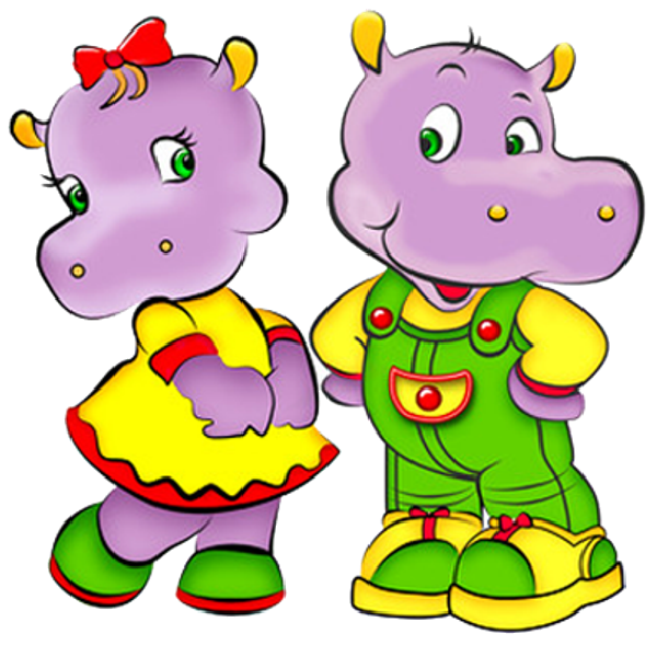 Cute Baby Hippo Cartoon Clipart | Free download on ClipArtMag