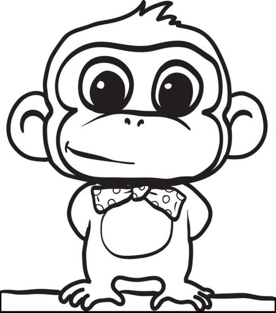 Cute baby monkey drawings free download best cute baby for Coloring pages of baby monkeys