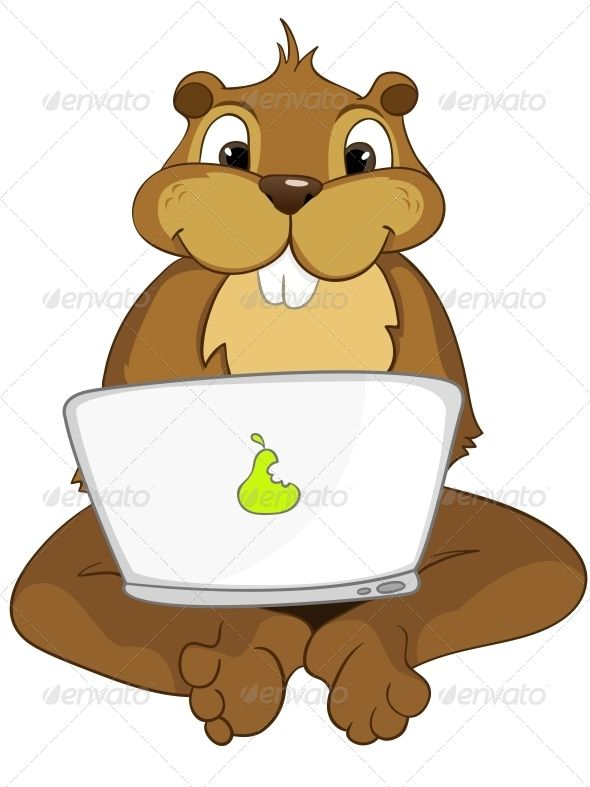 Cute Beaver Clipart