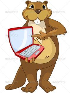 236x314 Cartoon Character Beaver Crees, Adorable, Animal, Art, Beaver