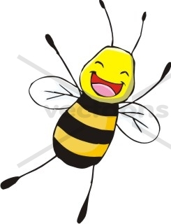 245x320 Cute Jumping Happy Smiling Bee