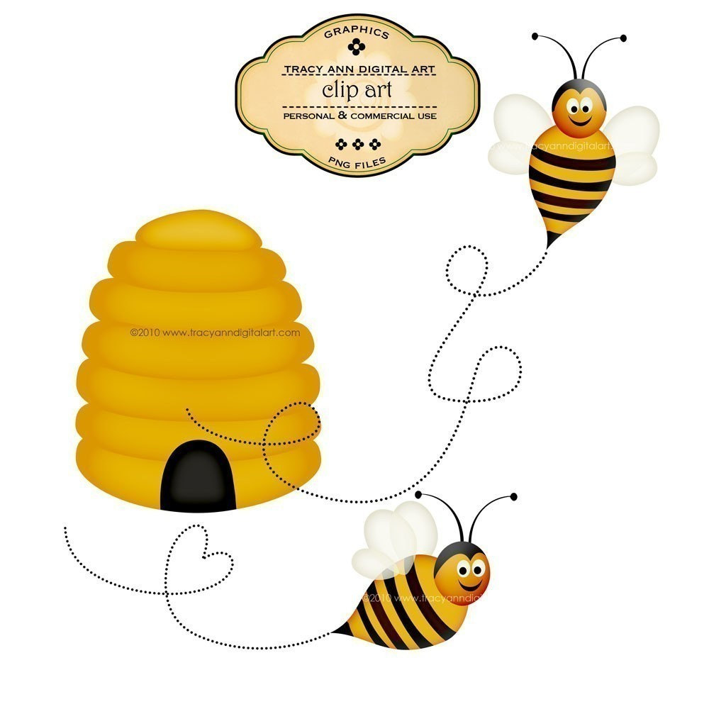 1000x1000 Free Flying Bee Clipart Image
