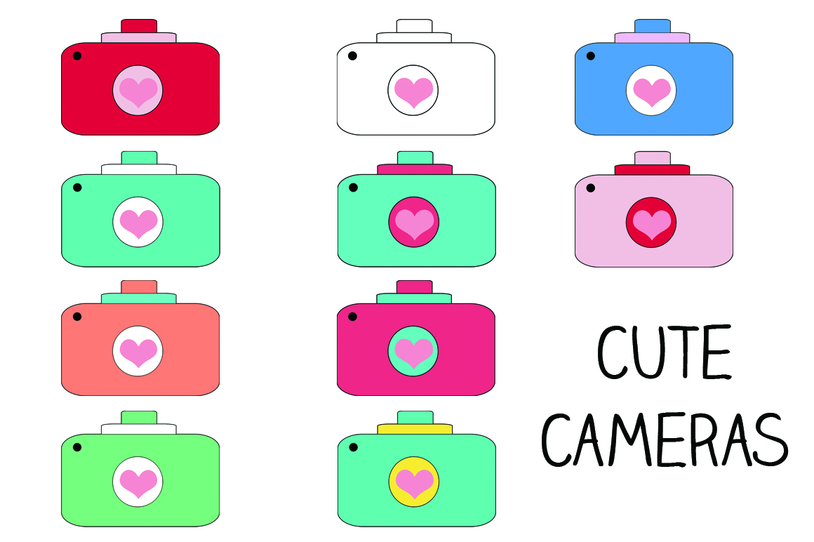 1160x772 Free Cute Camera Clipart Image