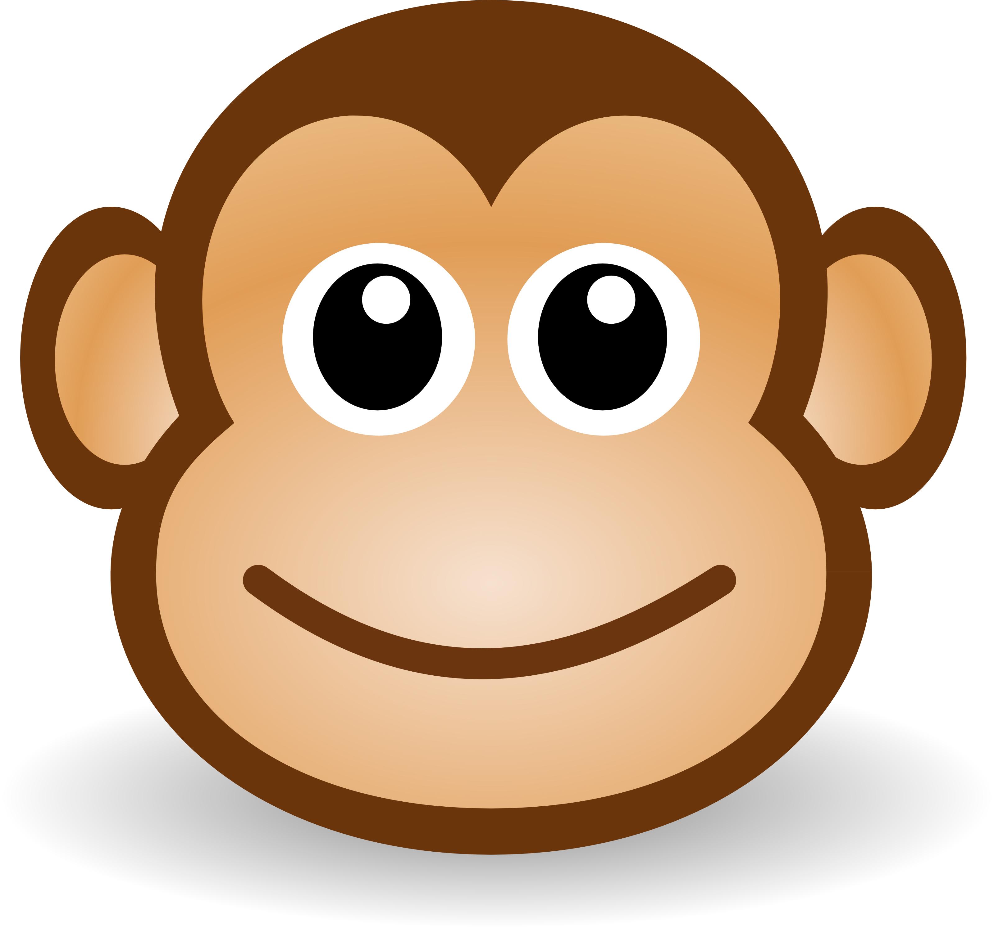3200x2990 Cute Cartoon Monkey Clipart Illustration