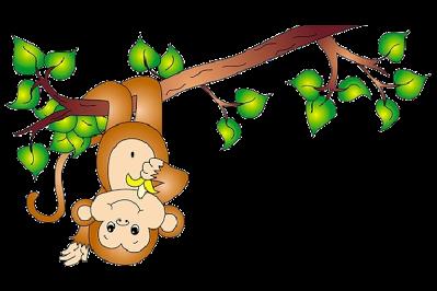 399x266 Free Cartoon Monkey Clipart