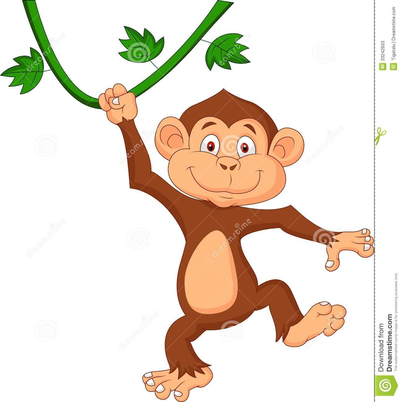 1300x1300 Hanging Monkey Cartoon Cute Monkey Cartoon Hanging Illustration