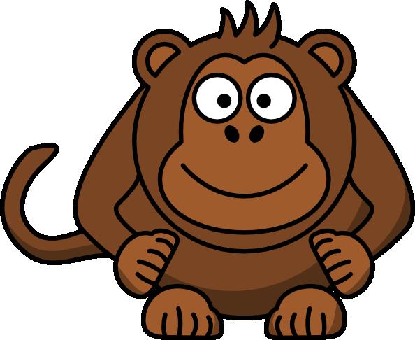 594x486 Cartoon Monkey Clip Art