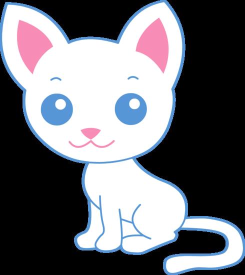 490x550 Cute White Kitty Cat