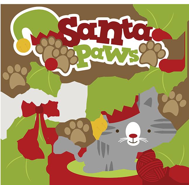 648x635 Santa Paws Svg Cat Clipart Cat Svg Cute Cat Clip Art Christmas Svg
