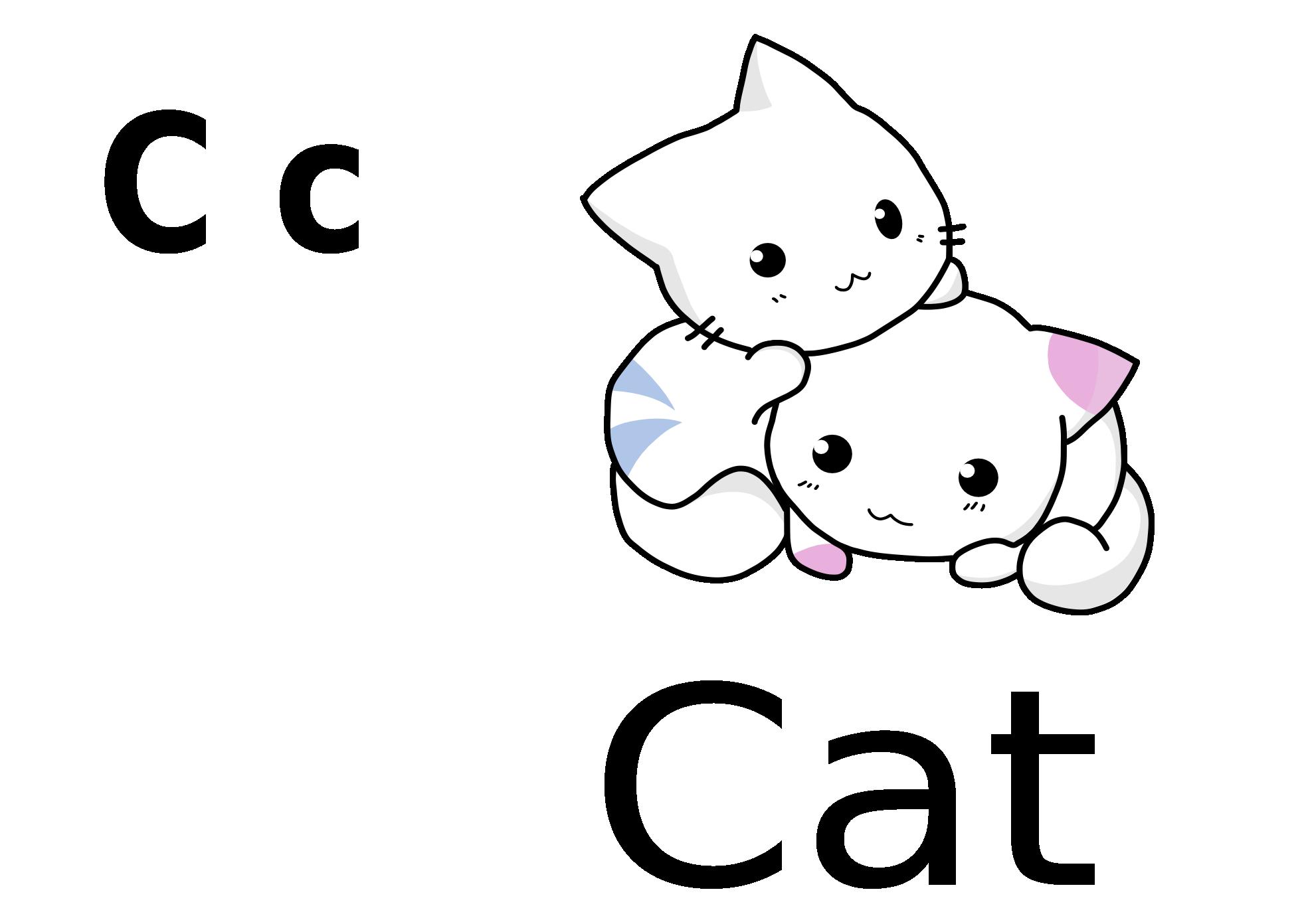 Premium Vector Clipart Kawaii Black Cats Cute Black Cats |Cute Caterpillar Clipart Black And White