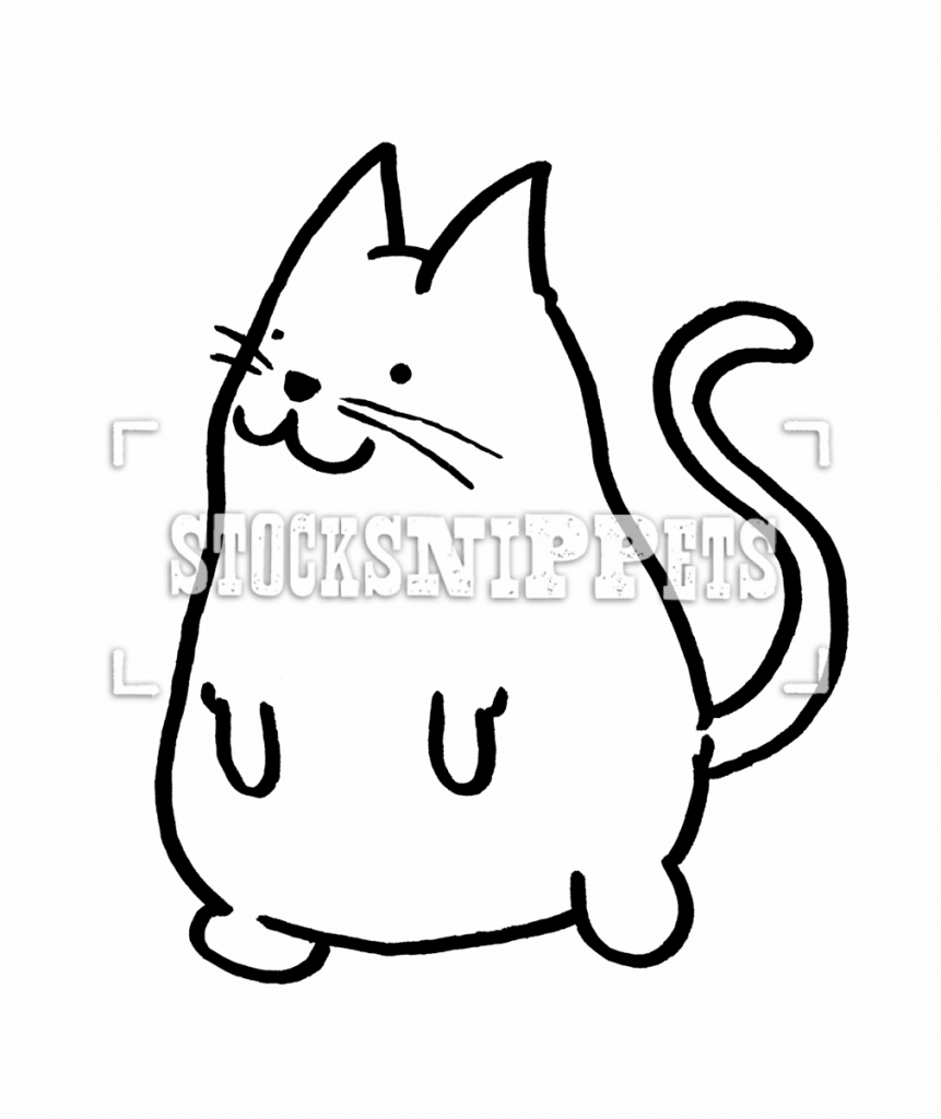 Cute Cat Face Drawing   Free download on ClipArtMag