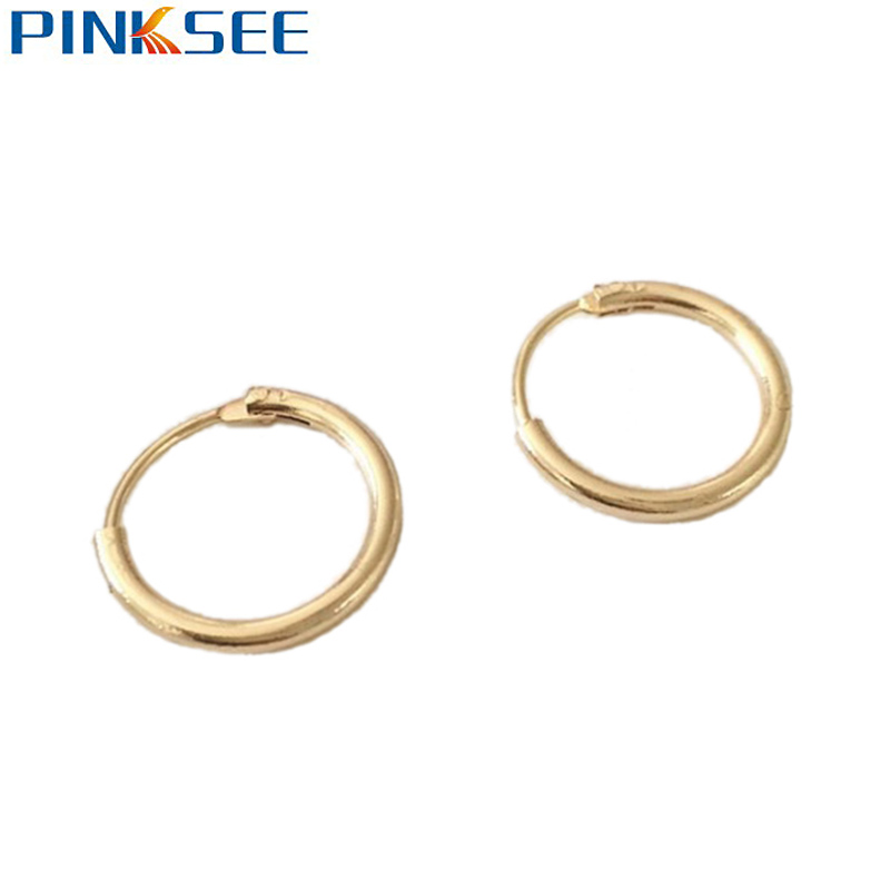 800x800 1 Pair Simple Chic Piercing Jewelry Round Hoop Earring Cute Small