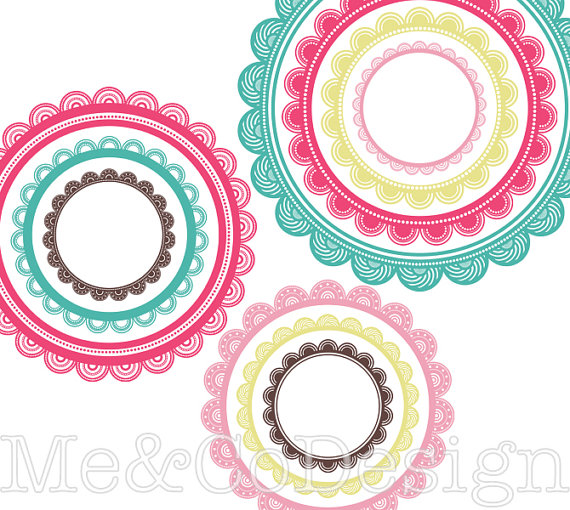 570x510 Circle Frames Clipart Fun Cute Clipart Scrapbooking Design